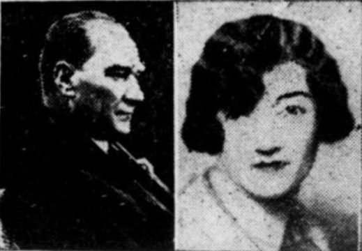 Në të majtë, diktatori Mustafa Qemali; në të djathtë, princesha