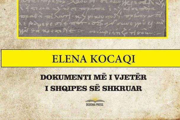 Elena Kocaqi me një hipotezë të re: Ja dokumenti më i vjetër i shqipes së shkruar