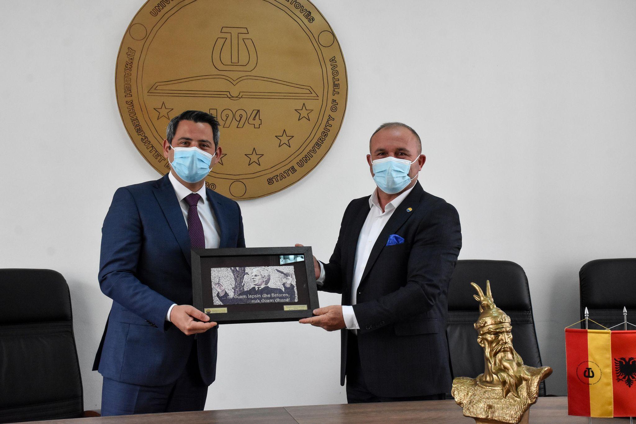 Ministri i mjedisit jetësor dhe planifikimit hapësinor, Naser Nuredini, e vizitoi Universitetin e Tetovës